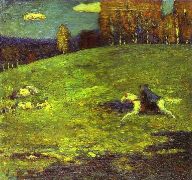 """Wassily Kandinsky """"Blue Rider"""", 1903, Private Collection."""