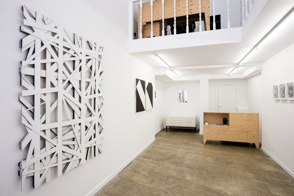 The solo exhibition Diagonal by Graphic Surgery. Photo: Wytske Averink