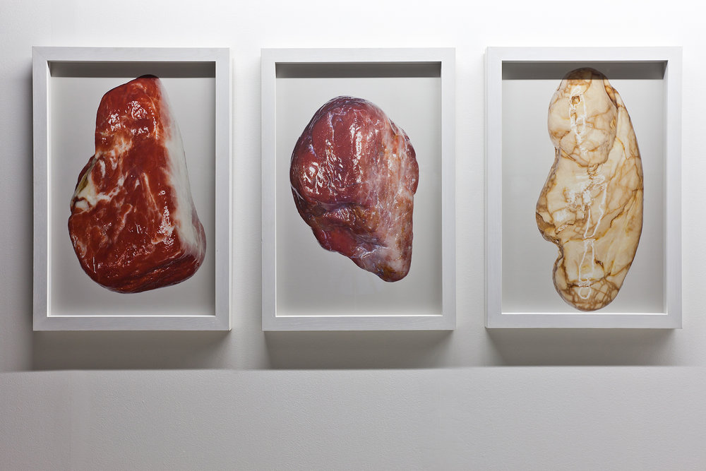 Witek Orski, Stones (triptych), 2012. Courtesy of Borowik Collection