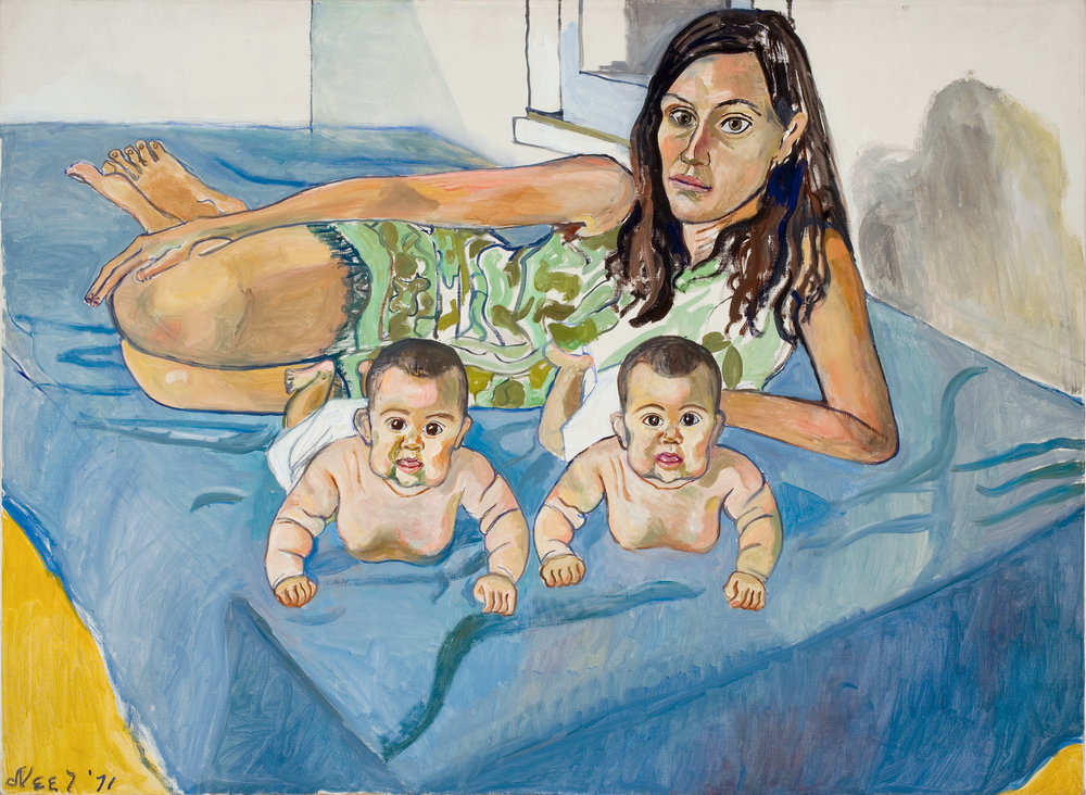 Alice Neel, Nancy and the Twins (5 Months), 1971, Foto: Malcolm Varon, Estate of Alice Neel