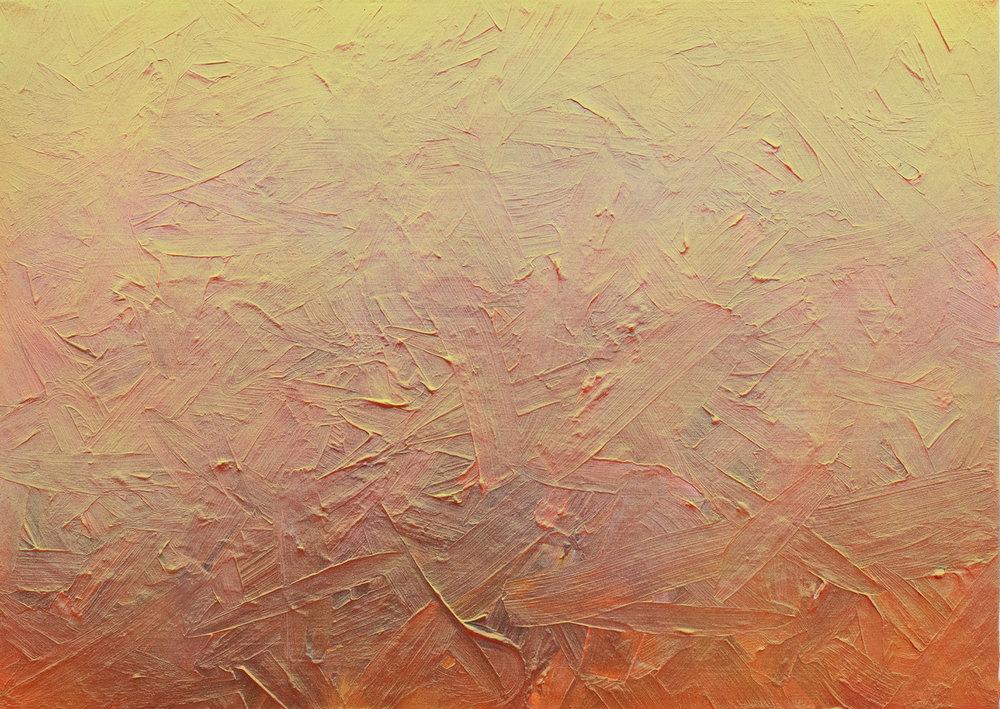 Surfing Particles, 2018, Acryl auf Baumwolle, 50 x 70 cm