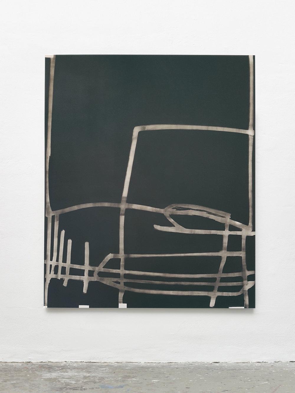 Laura Sachs, Dusty R., 180 x 150 cm; Oil on Canvas, 2017