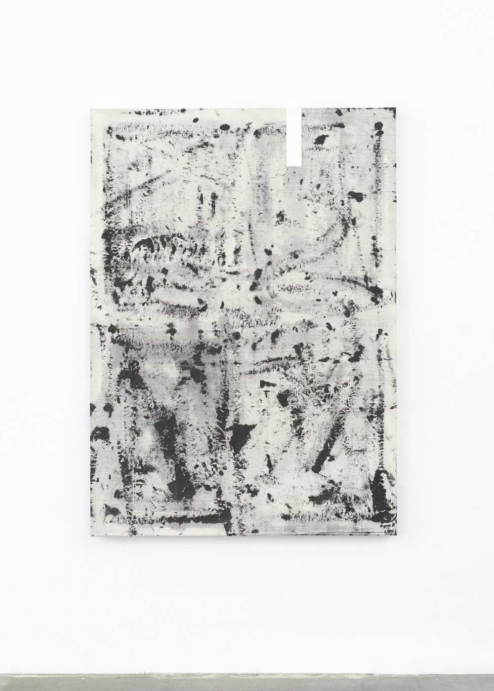 Laura Sachs, Ice, 140 x 100 cm, Ink and Metal on Canvas, 2018