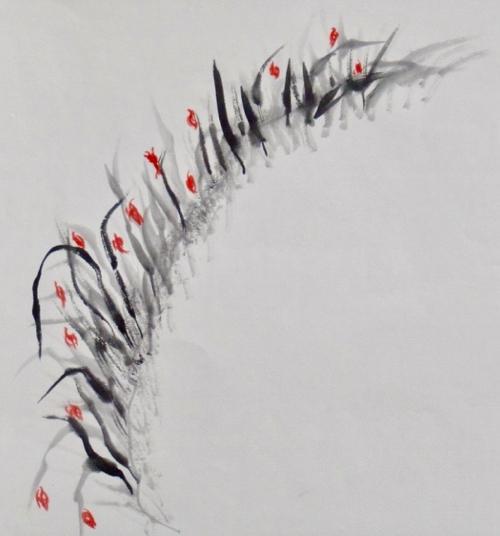 Tusche, Chinesisches Papier, 37 x 35 cm