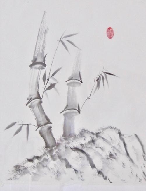 Tusche, Chinesisches Papier, 46 x 56 cm