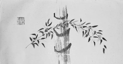 Tusche, Chinesisches Papier, 65 x 36 cm
