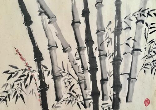 Tusche, Chinesisches Papier, 78 x 53 cm