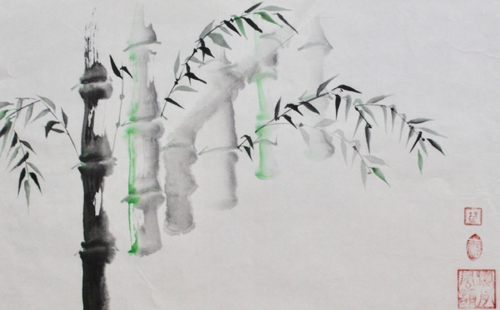 Tusche, Chinesisches Papier, 60 x 36 cm