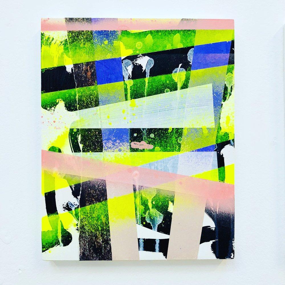 Michal Raz, Faux Flying, Mixed Media on Wood, 20 x 25 cm