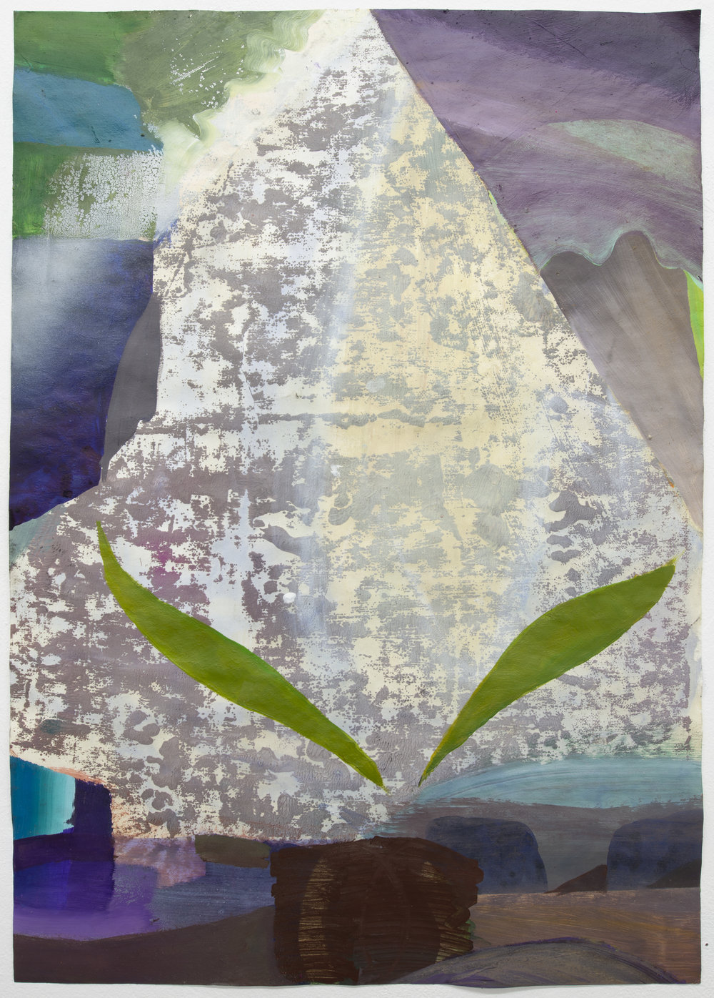 Carolin Israel  Vergissmeinnicht (Forget-me-not), 2018 Acrylic on Paper 61 x 43 cm 1.870 EUR