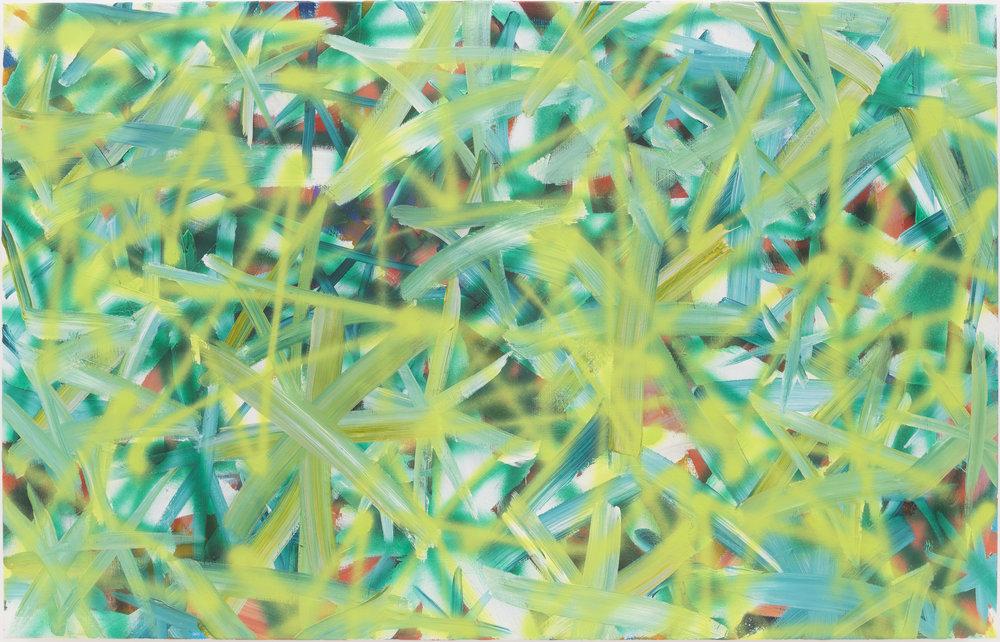 Bernhard Adams  Deepfield V (Newspace), 2018 Acrylic on Polyester 90 x 140 cm SOLD