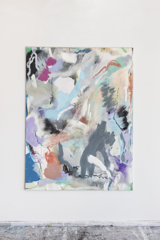 Untitled, 2019 Tempera, Oil on Canvas 200 x 145 cm 5.750 EUR