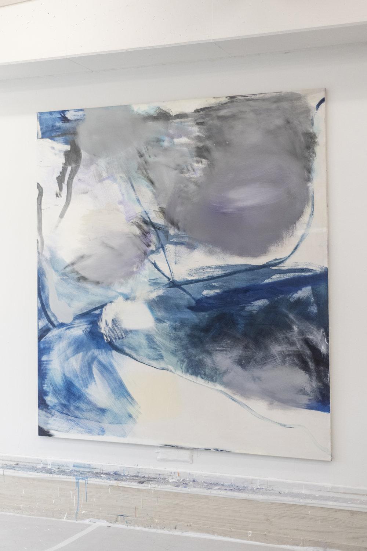 Untitled, 2018 Tempera on Canvas 220 x 200 cm 7.000 EUR