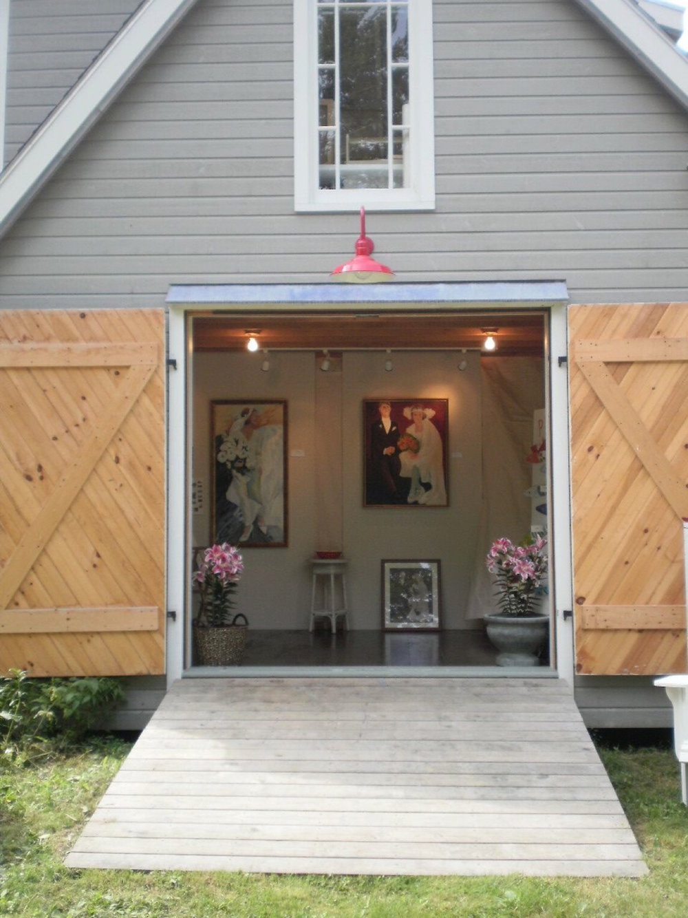 "A summer exhibit at Otty's Barn Gallery in Tenants Harbor, during the ""Artists of St. George"" annual summer event which spotlights the many artists on the St.George Peninsula."