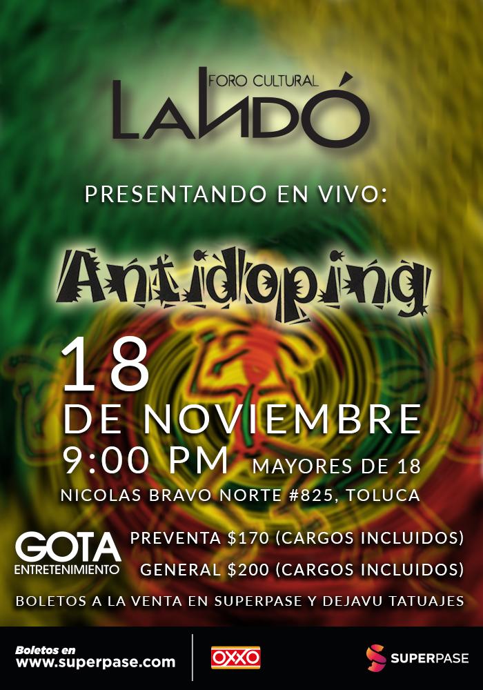 Antidoping 18 de Noviembre en el Foro Landó, Toluca