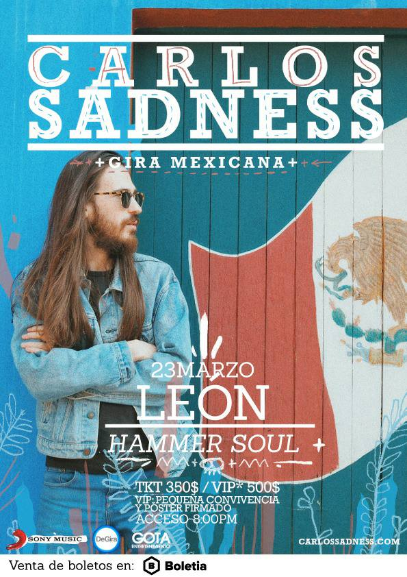 Carlos Sadness en León - 23 de Marzo 2017