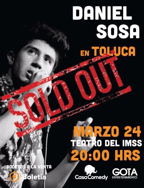 Daniel Sosa en Toluca - 24 de Marzo 2017