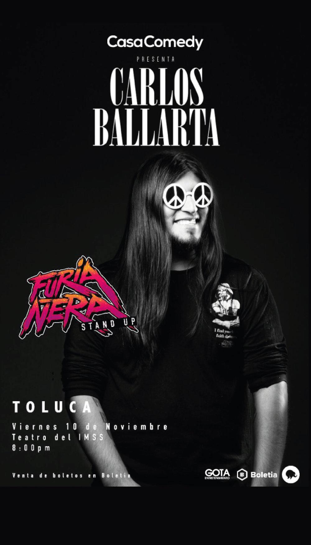 Carlos Ballarta en Toluca - 10 de Noviembre 2017