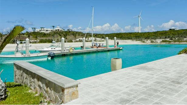 Bosarge's Over Yonder Cay resort in the Bahamas runs almost entirely from wind, solar and tidal energy