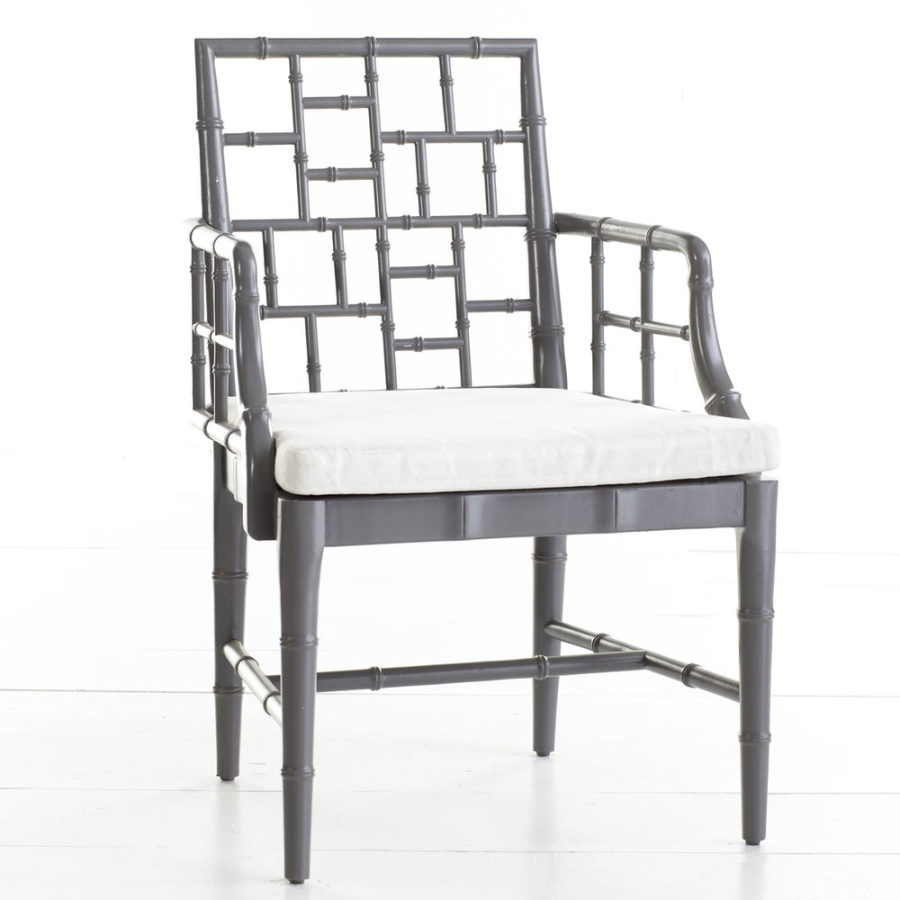 Grey Bamboo Chair
