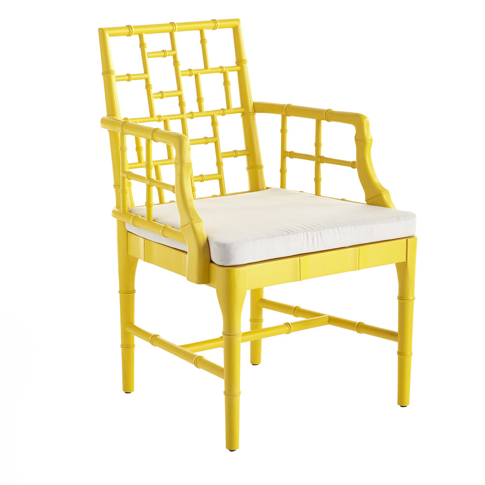Yellow Bamboo Chair