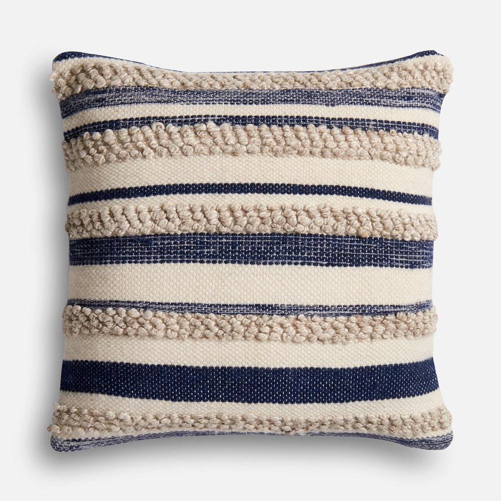 Navy Print Throw Pillow Joanna
