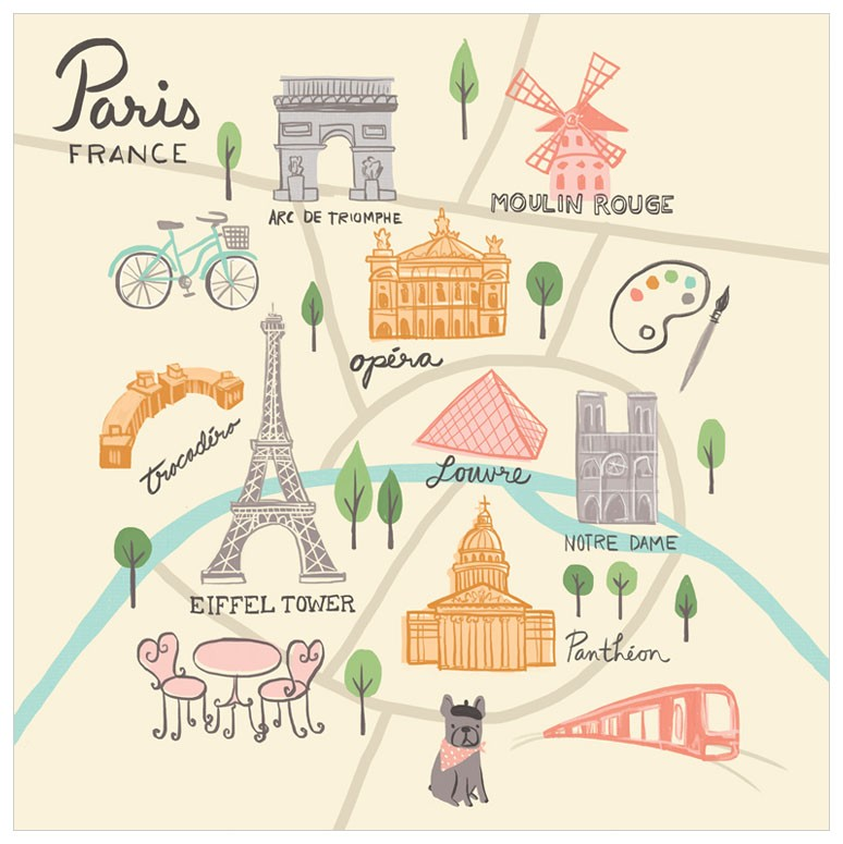 Paris Print for Girls Room