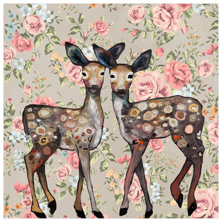 Deer Print for Girls Room