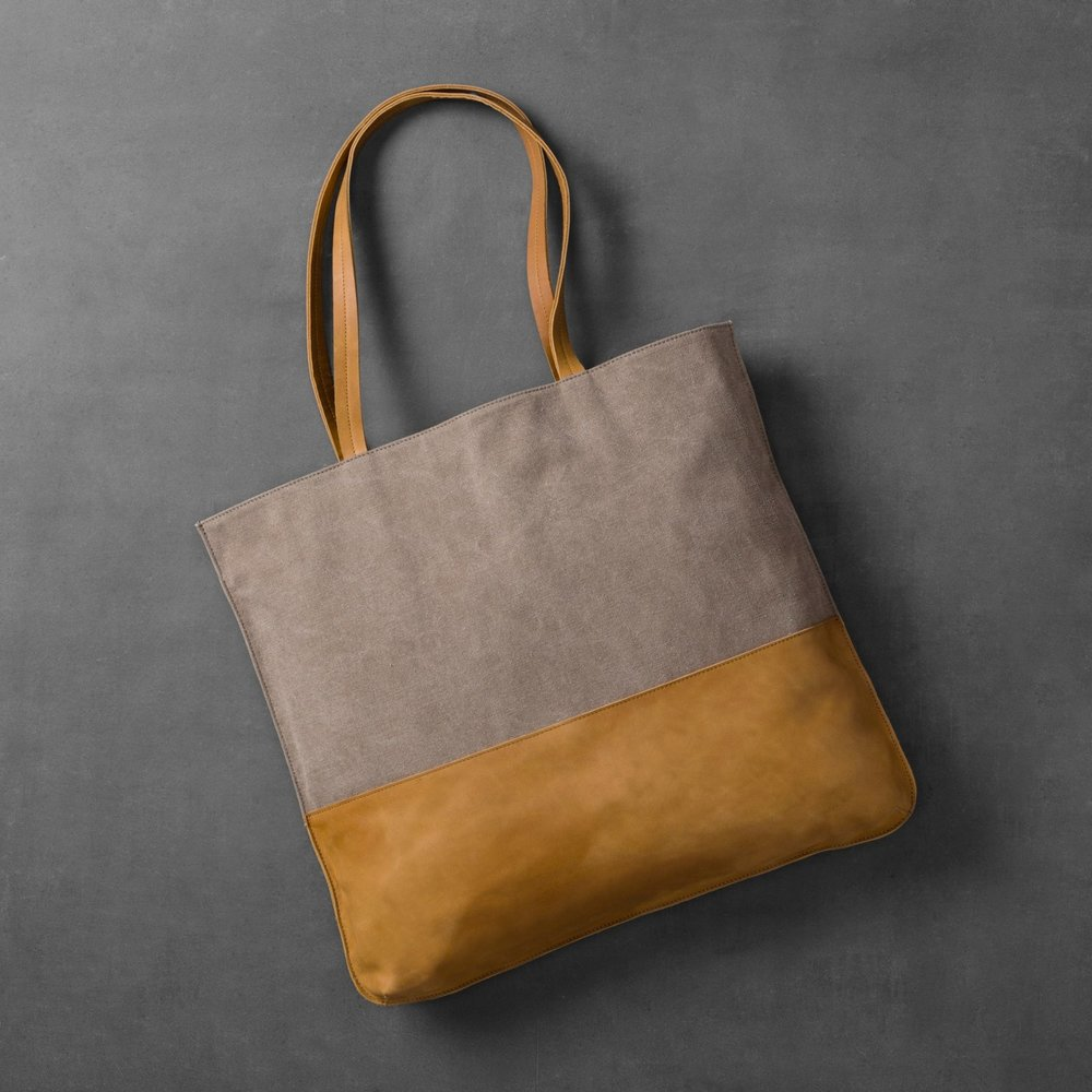 Canvas & Leather Tote