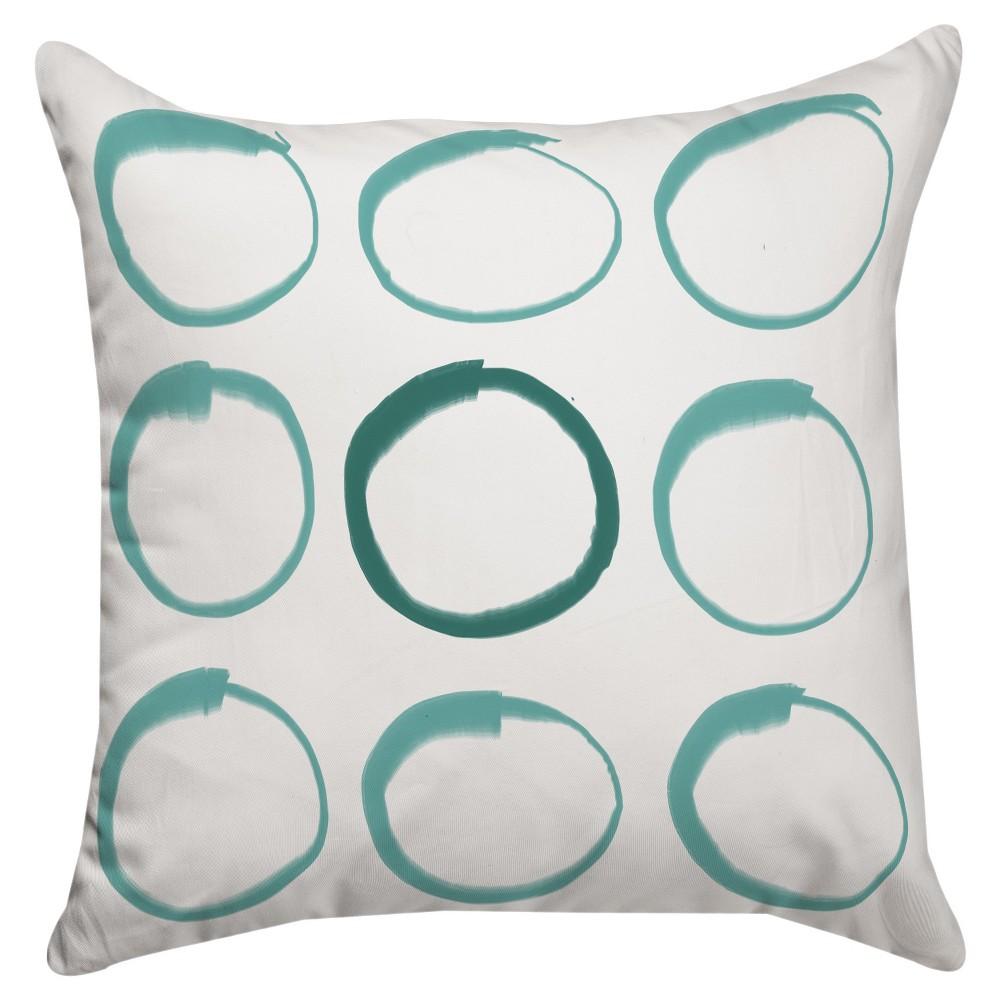 Teal Circle Zen Pillow