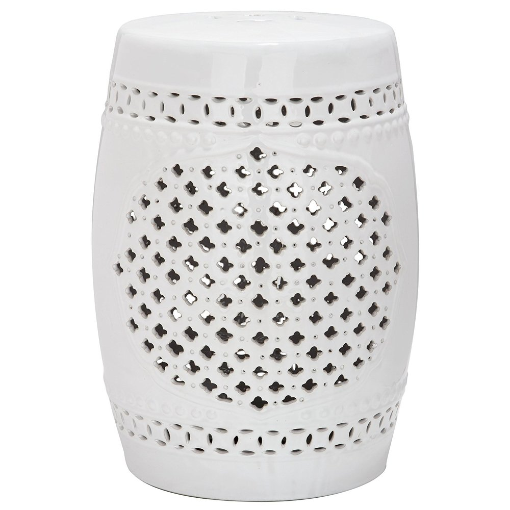 White Ceramic Drum