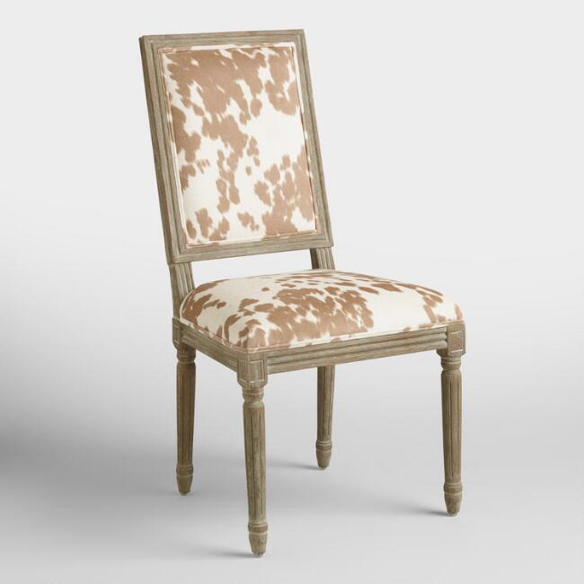 Faux Skin Dining Chair