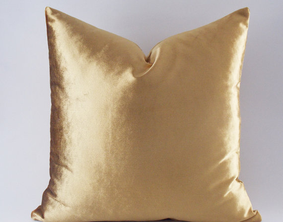 Wtsy Gold Velvet Pillow