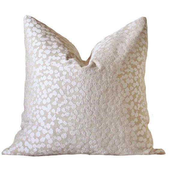 Textured Cream Throw Pillow