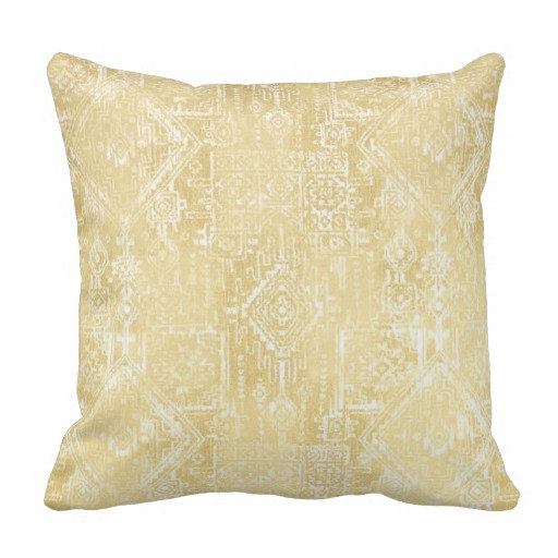 Textured Yellow Throw Pillow