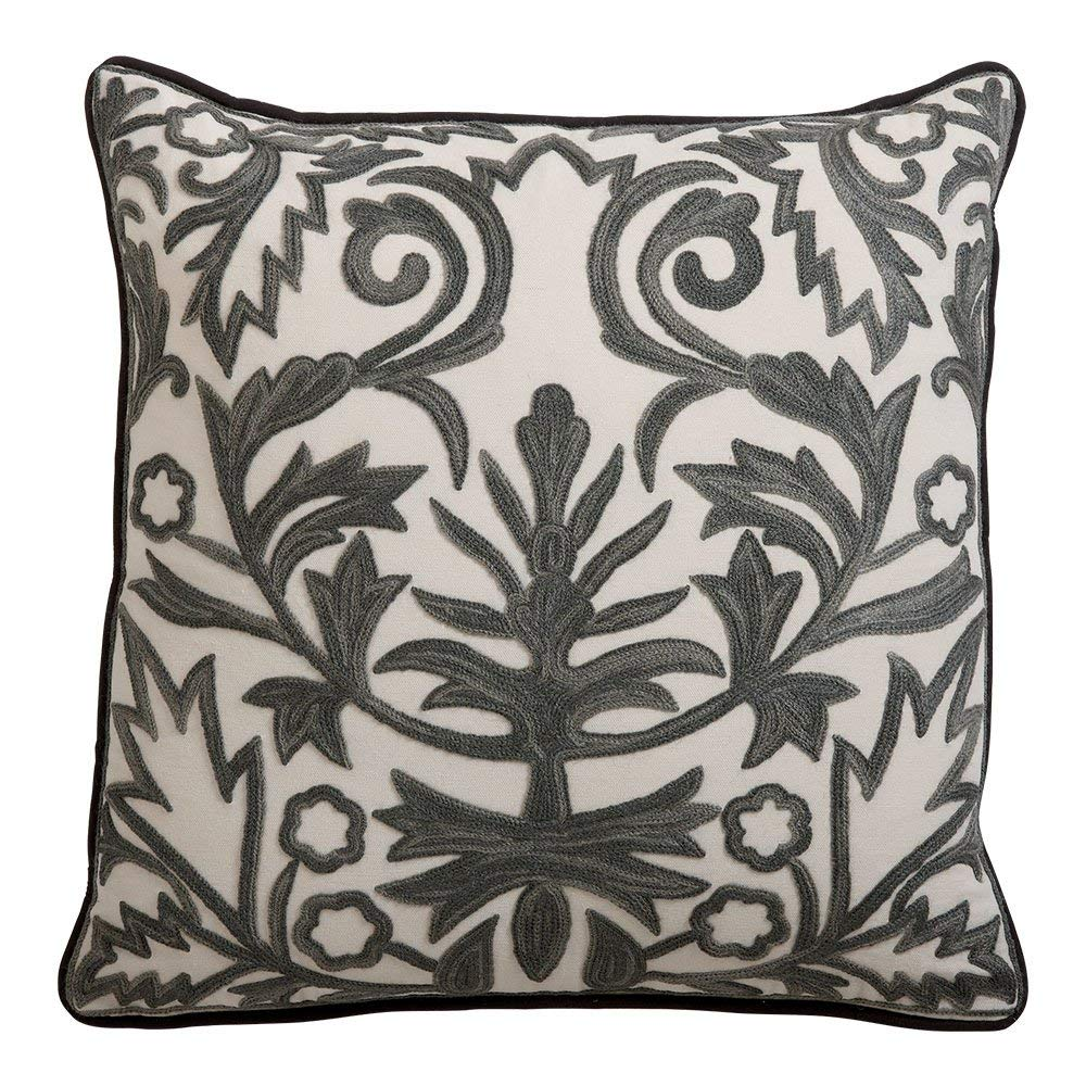 Ethan Allen Crewel Throw Pillow