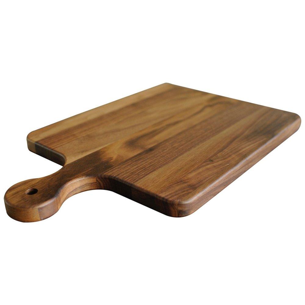 Wood paddle cutting board