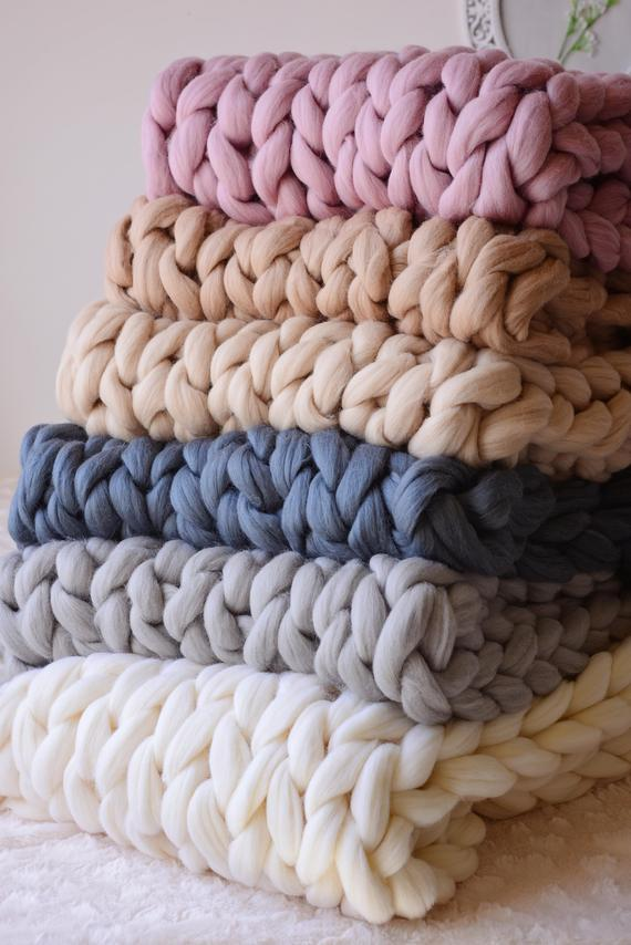 Large Knit Blankets