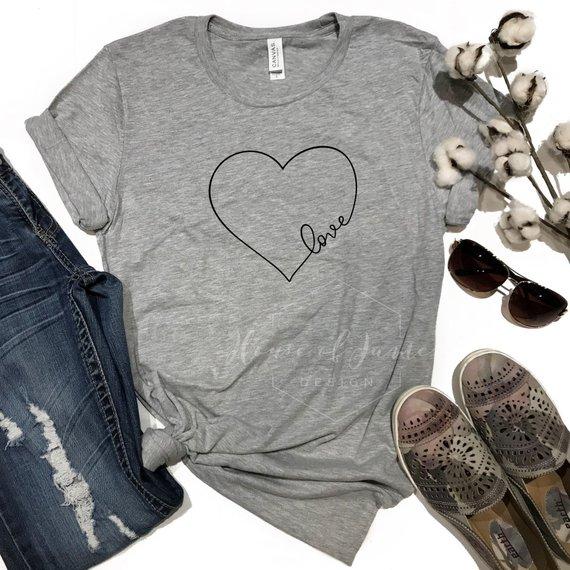 Etsy heart tshirt