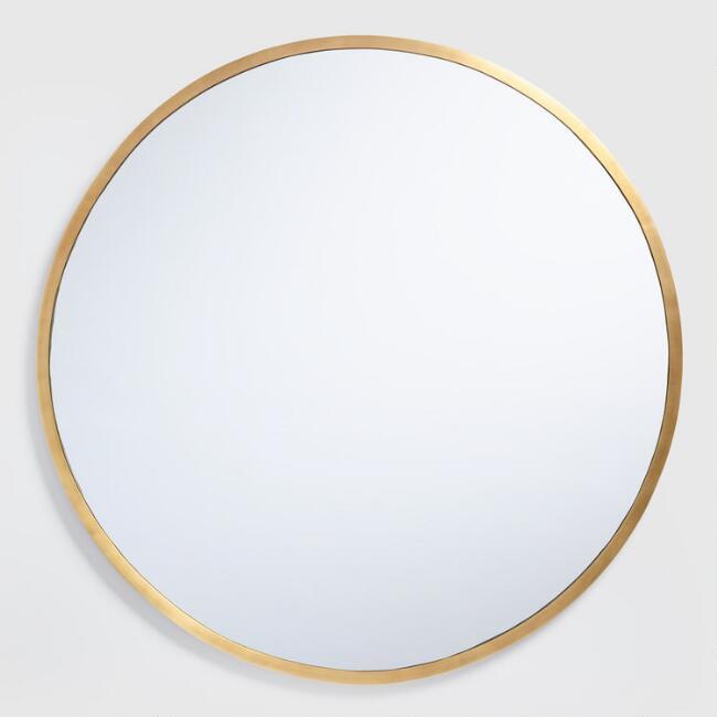 gold Mirror round