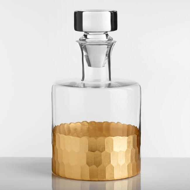 Gold Glass Decanter