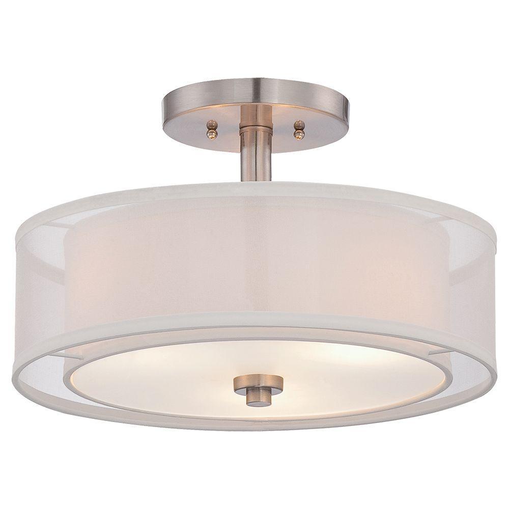 Semi flush lighting