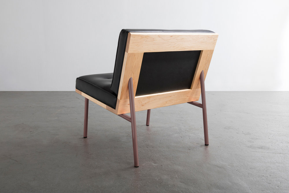 DGD Lounge Chair in leather and maple by David Gaynor Design