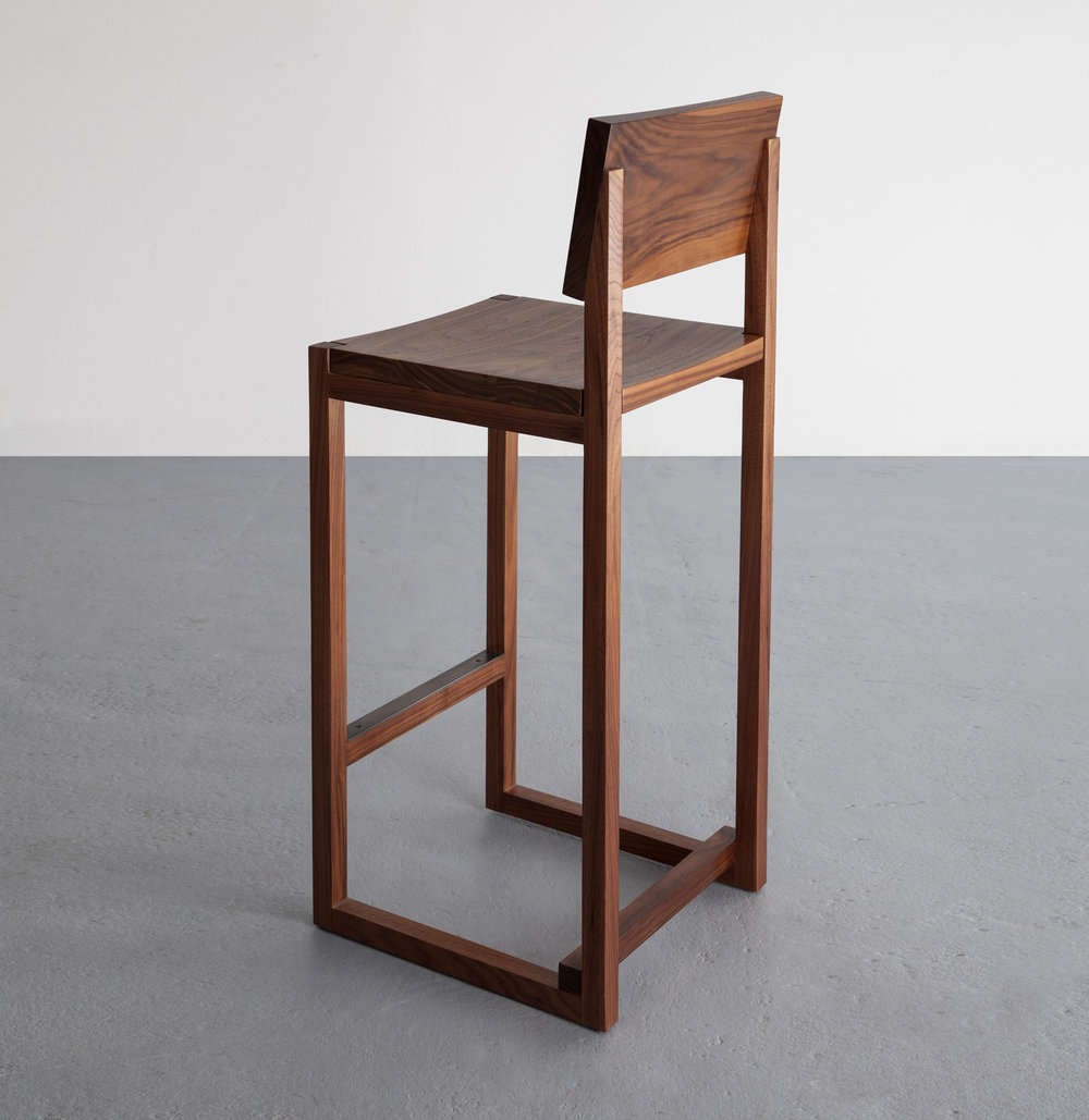 SQ2 Bar Stool in walnut by David Gaynor Design