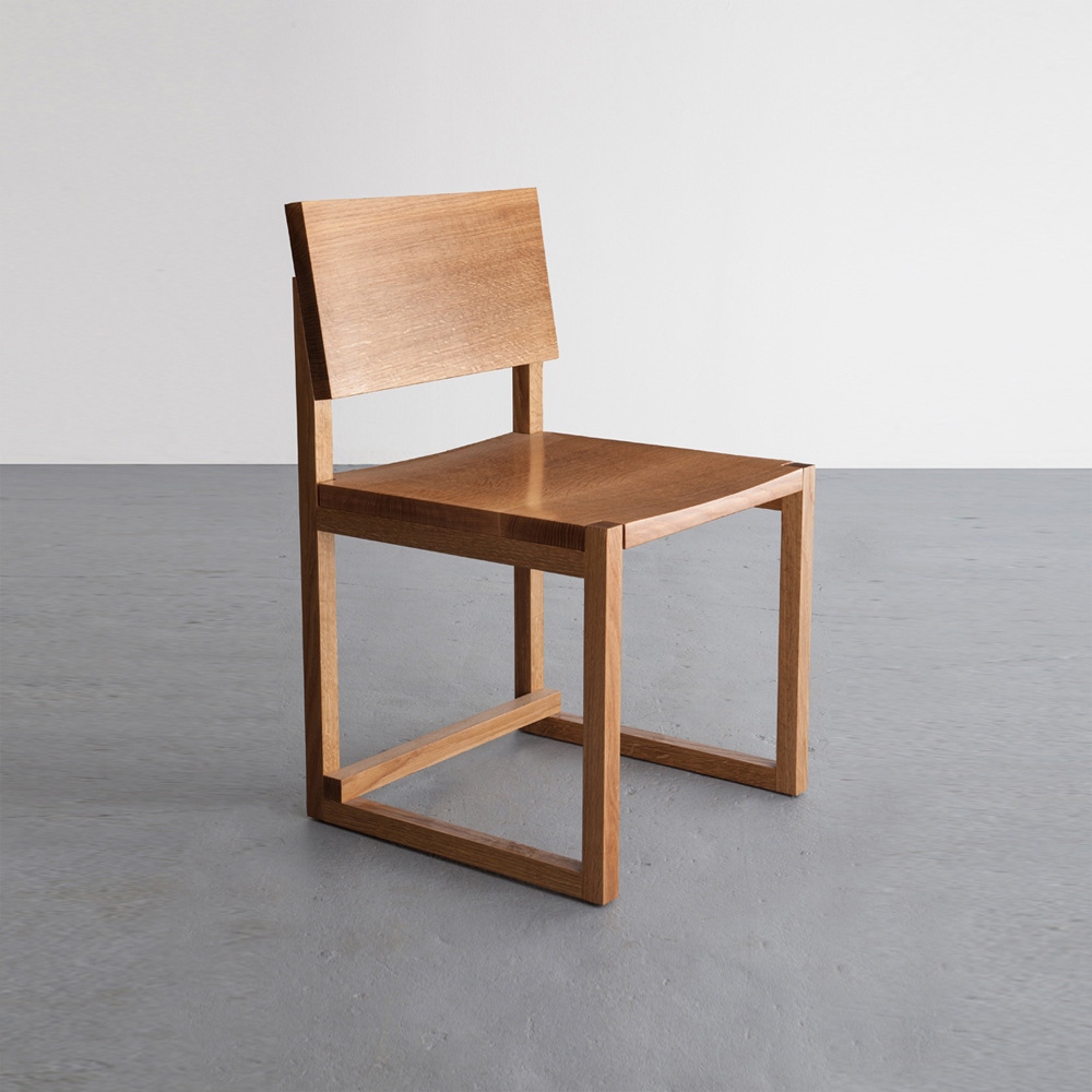 SQ Dining Chair in White Oak