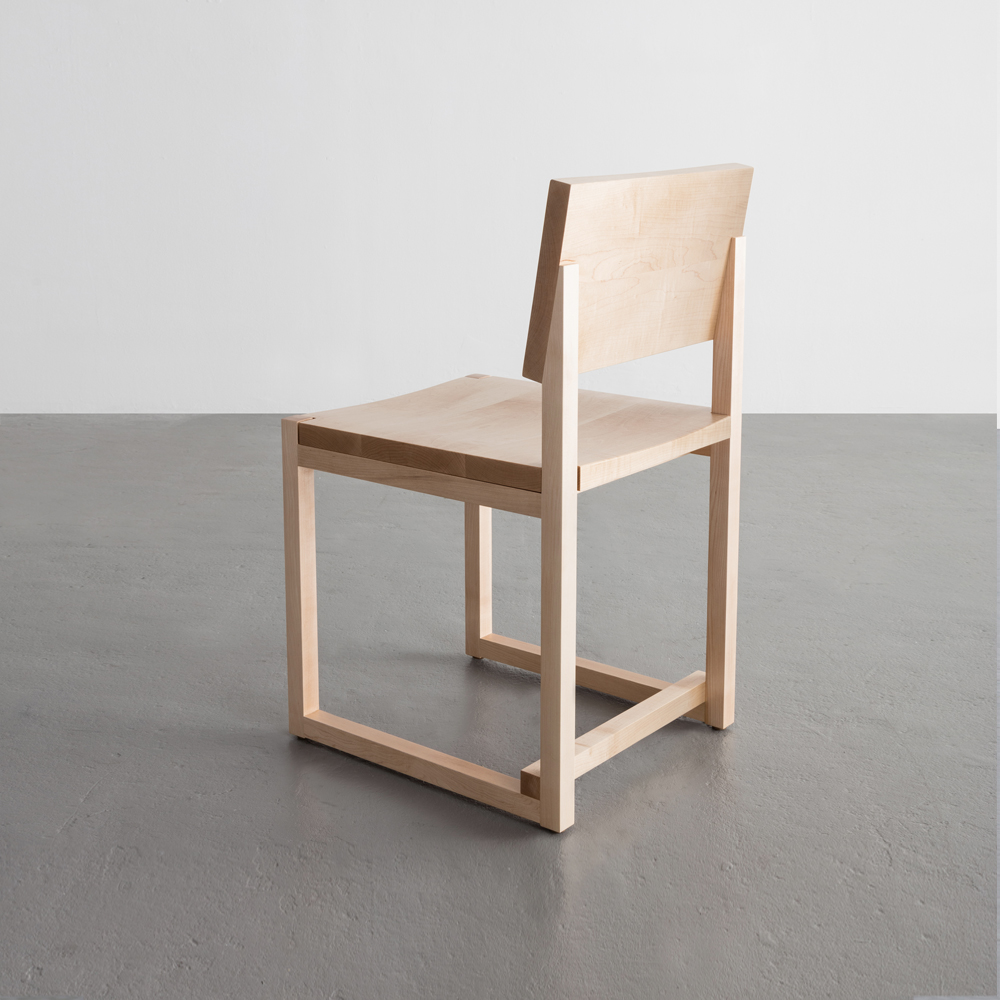 SQ Dining Chair in maple