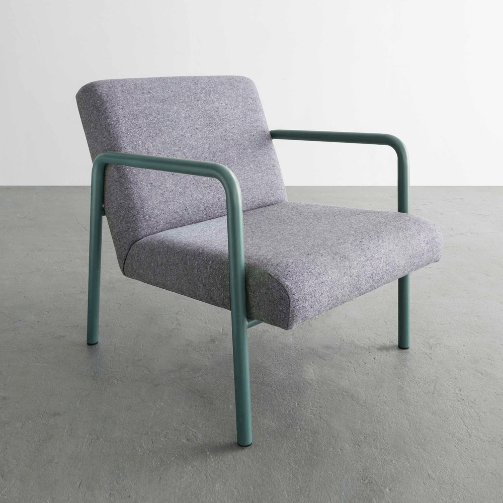 Berm Lounge Chair in Green