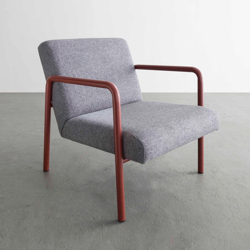 Berm Lounge Chair in Red