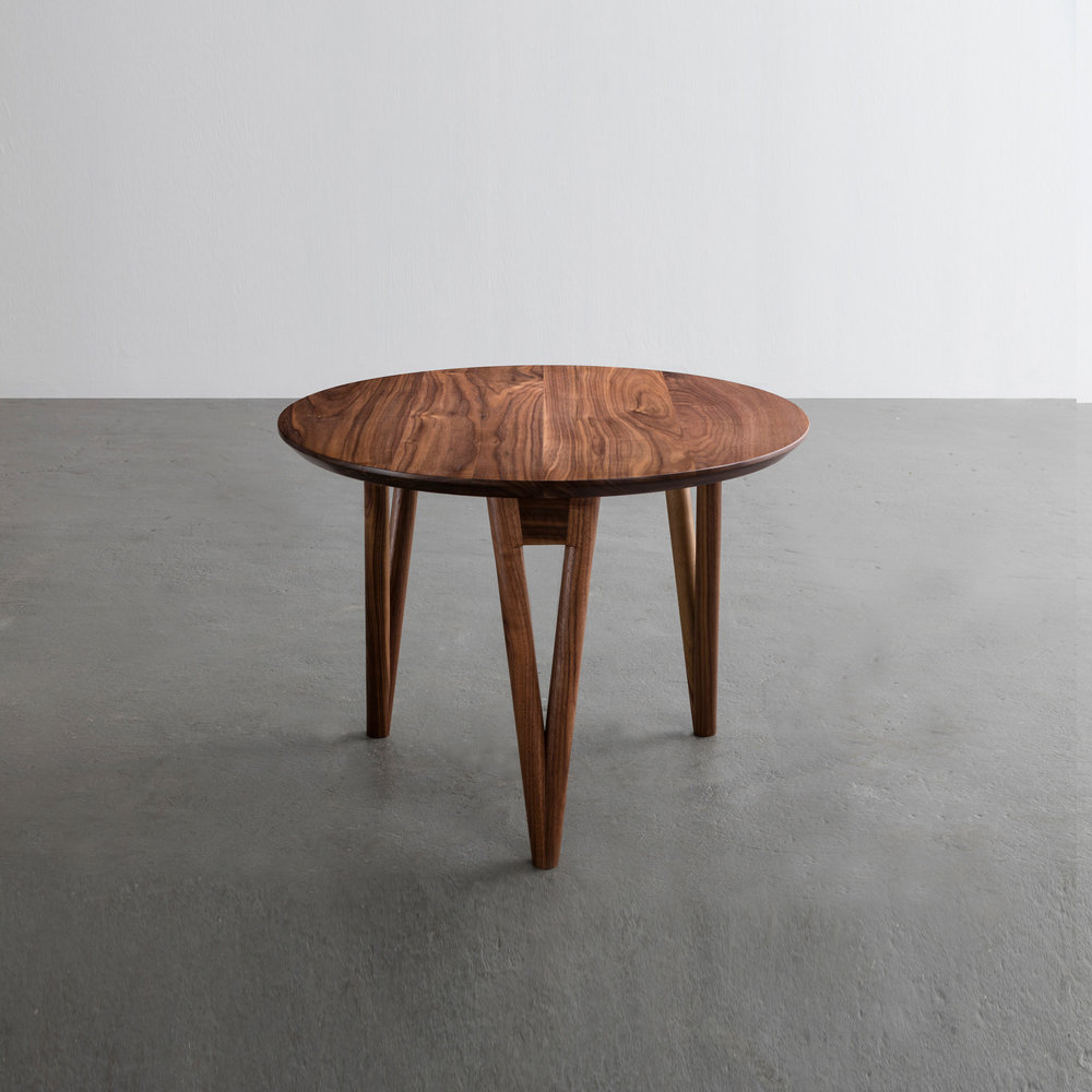 Hair Pin End Table in walnut