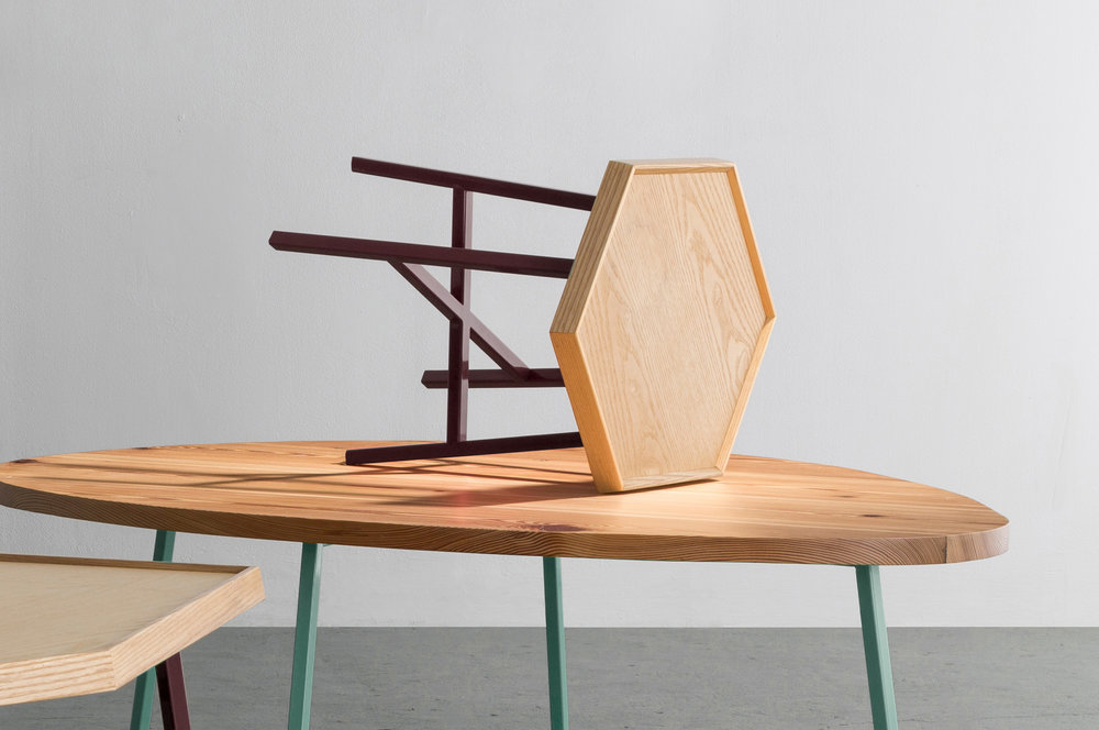 Hex End Table by David Gaynor Design